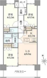 ダイナシティ東戸塚の間取図