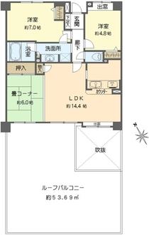 東戸塚前田町パークホームズの間取図