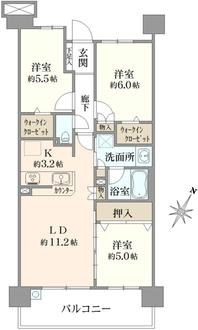 グランセレッソ横濱戸塚の間取図
