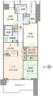 グランドメゾン東戸塚2番館の間取図