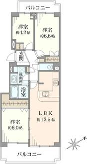 パークシティ横濱E棟の間取図