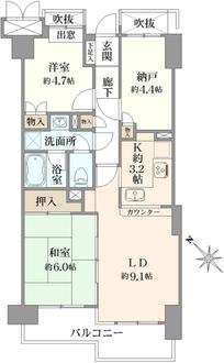 藤和上永谷ハイタウンの間取図
