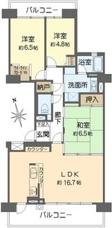 横浜星の丘ビューシティC棟の間取図