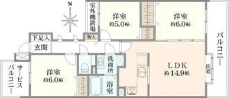 ステイツ東戸塚の間取図