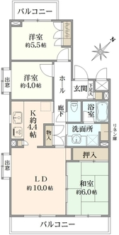 東戸塚緑の街1号棟の間取図