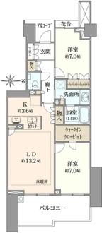 グランドメゾン東戸塚3番館の間取図