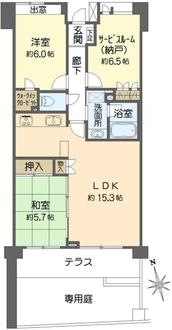 アーバンコンフォート横浜和田町の間取図