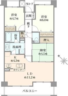 センチュリー横浜港南の間取図