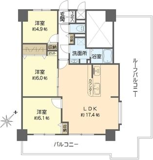 ピアコート戸塚参番館の間取図