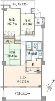 東急ドエル・横浜ヒルサイドガーデンの間取図