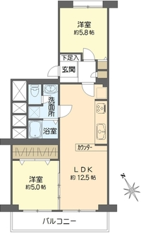 金沢八景ハイム1号棟の間取図