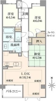 プレミスト湘南台スパークルレジデンスの間取図