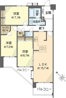 ランドシティ横濱山手参番館の間取図