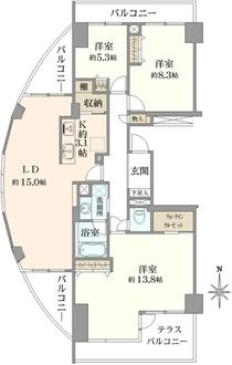 ニューシティ東戸塚アーバンハイツ丘の街6号館の間取図