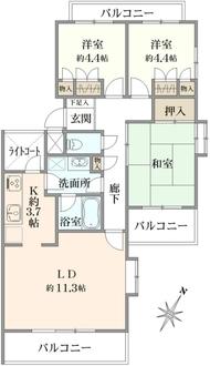 藤和ライブタウン東戸塚IIの間取図