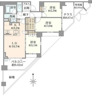 ヴェレーナ東戸塚IIの間取図