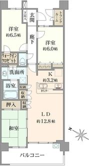 レイディアントシティ戸塚の間取図