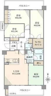 クリオ東戸塚壱番館の間取図