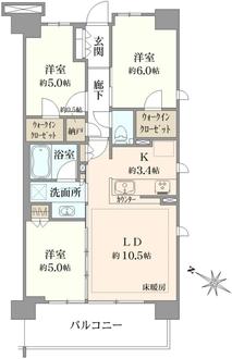 シティテラス横濱戸塚の間取図