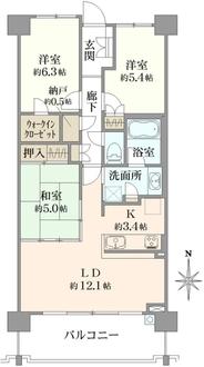 オハナ戸塚舞岡の間取図