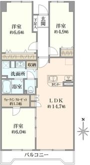 コープ野村戸塚下倉田の間取図