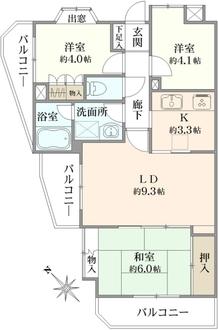 戸塚台パーク・ホームズ参番館の間取図
