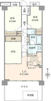 ライオンズマンション東戸塚ヒルズの間取図
