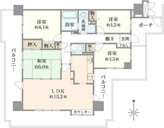 東急ドエル・アルス江坂の間取図