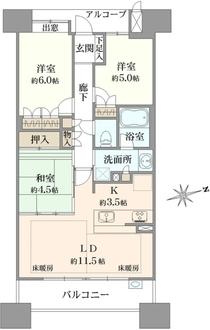 堺東ヴューモノースヴューモの間取図