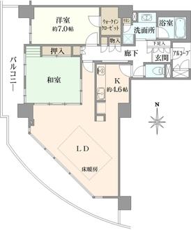 シティゲートタワー千里中央の間取図