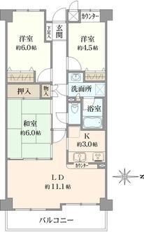 ステイツ吹田・千里丘弐番館の間取図