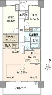 プラウドシティ新大阪の間取図
