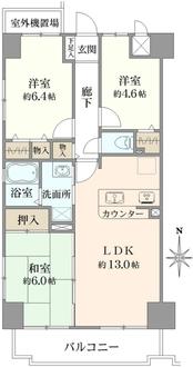 ベル・アーバニティ江坂IIの間取図