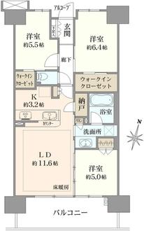 シティテラス神崎川駅前ノーブルテラスの間取図