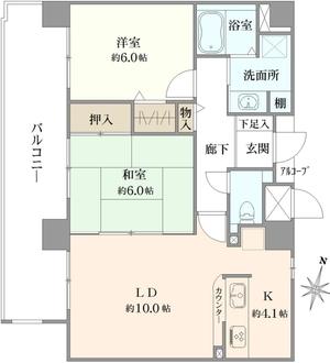 ルイシャトレ塚本駅前の間取図