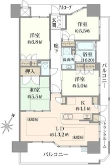 上野芝レジデンスコンフォートコートの間取図