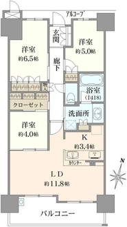 シャリエ新大阪の間取図