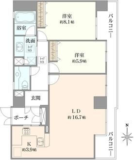 プレシオ新大阪の間取図