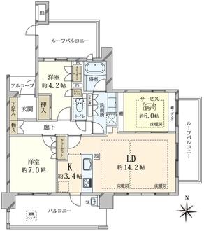 プラウド武庫之荘の間取図