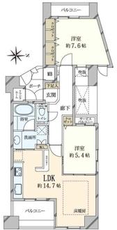 ディークラディア夙川の間取図