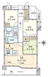 ネバーランド夙川香櫨園セルサスの間取図