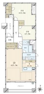 夙川香櫨園コートハウスマスターズコートの間取図