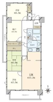 夙川ハウスの間取図