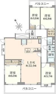 シティ194横浜・鴨居の間取図