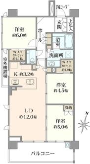 ザ・パークハウス文京護国寺の間取図