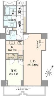 アトラスタワー小石川の間取図