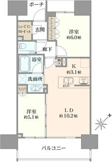 シティハウス文京千石駅前の間取図
