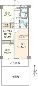 小金井パークファミリアの間取図