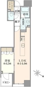 プラウド千代田淡路町の間取図