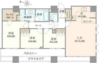 THE TOWER KOISHIKAWAの間取図